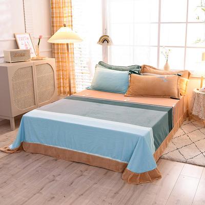 2020新款-牛奶绒单床单 155*210cm 在暖冬