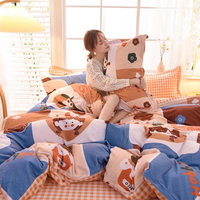2020新款-牛奶绒四件套 0.9m床单款三件套 陈小雅