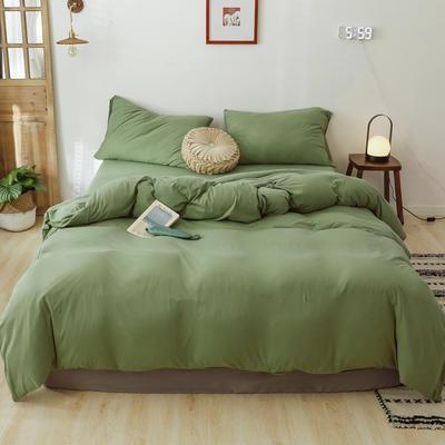 2019新款針織純色被套 150x200cm 柳綠