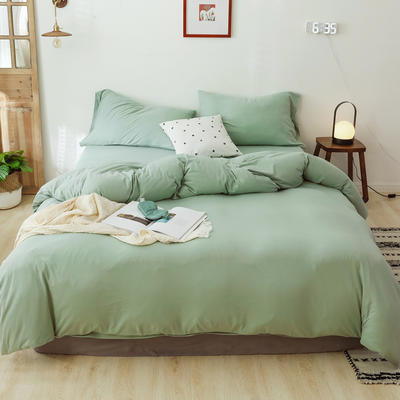2019新款針織純色被套 150x200cm 淺綠