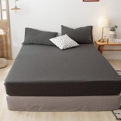 2019新款针织条纹床笠 120cmx200cm 黑白细条