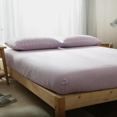 2019新款针织条纹床笠 120cmx200cm 紫色宽条