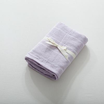 2019针织棉条纹单被套天竺棉单床笠纯棉床单全年枕套 枕套一对48cmx74cm 紫色宽条