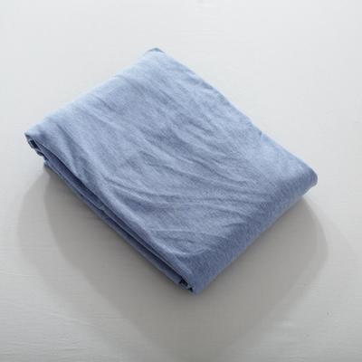 2019针织棉条纹单被套天竺棉单床笠纯棉床单全年枕套 单枕套48cmx74cm 蓝白中条