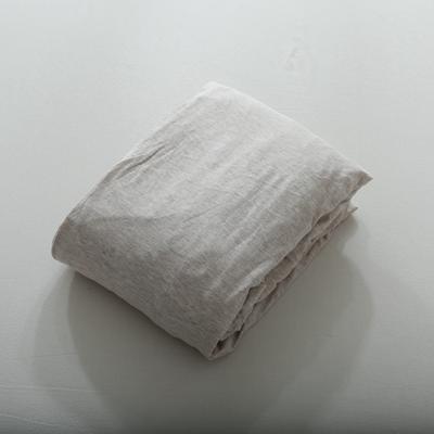 2019针织棉条纹单被套天竺棉单床笠纯棉床单全年枕套 单枕套48cmx74cm 浅咖中条