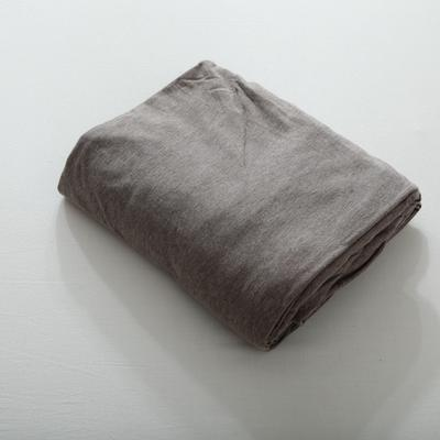 2019针织棉条纹单被套天竺棉单床笠纯棉床单全年枕套 单枕套48cmx74cm 深咖条纹