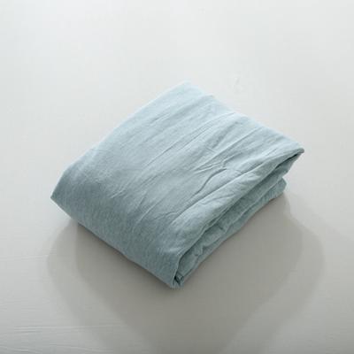 2019针织棉条纹单被套天竺棉单床笠纯棉床单全年枕套 单枕套48cmx74cm 水蓝宽条