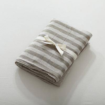 2019针织棉条纹单被套天竺棉单床笠纯棉床单全年枕套 单枕套48cmx74cm 中咖条纹