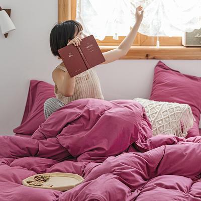 2020新款天竺棉純色四件套針織棉三件套純棉套件 1.2m床單款三件套 紫羅蘭