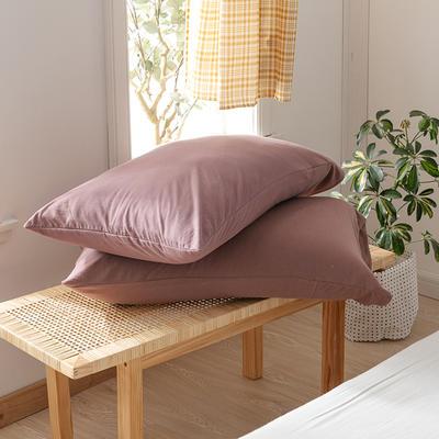 2020新款针织纯色单品枕套 48cmX74cm/对 帛咖