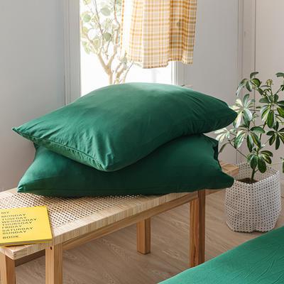 2020新款针织纯色单品枕套 48cmX74cm/对 黛绿