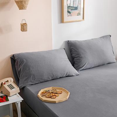 2020新款针织纯色单品枕套 48cmX74cm/对 水银灰