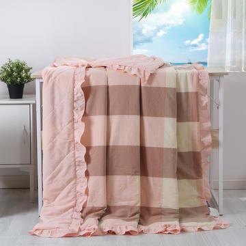 色织水洗棉花边夏被—花边