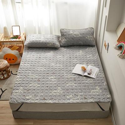 2020新款针织棉夹棉软床垫 1.2*2.0cm 恐龙