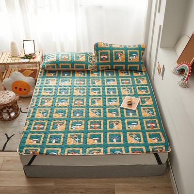 2020新款针织棉夹棉软床垫 1.2*2.0cm 蘑菇