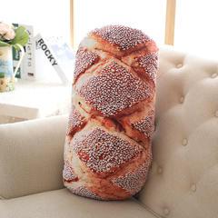 抱枕 仿真面包抱枕 60X60CM 芝麻面包