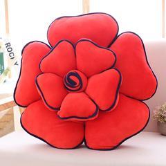抱枕 花朵多功能抱枕 直径50cm 大红色