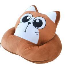 呆呆猫午睡枕三合一 小号38*28*20cm 咖啡豆豆