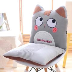 呆呆猫连靠坐垫 45x42x42cm 灰色呆萌