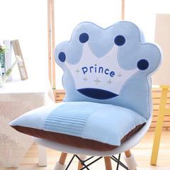 皇冠连靠坐垫(可拆卸) 40X42X42cm 蓝色