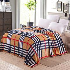 赋雅家纺 350克超柔加厚云貂绒毛毯法莱绒毛毯 床单盖毯 总 120x200cm 都市格调