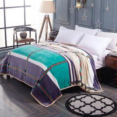 赋雅家纺 350克超柔加厚云貂绒毛毯法莱绒毛毯 床单盖毯 总 120x200cm 蜜蜂格