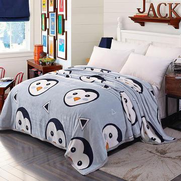 350克超柔加厚云貂绒毛毯法莱绒毛毯 床单盖毯 总