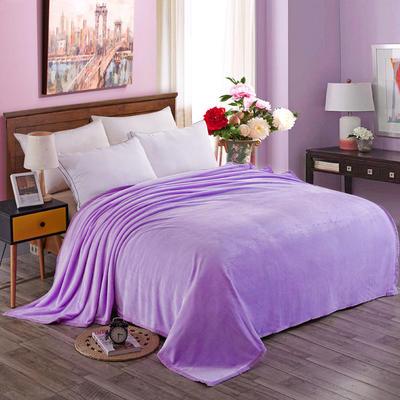 350克纯色 350克超柔加厚云貂绒毛毯法莱绒毛毯 床单盖毯 总 120x200cm 紫色
