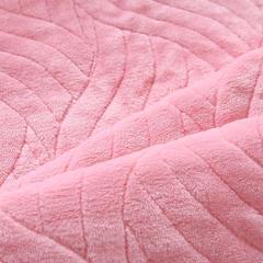 简约被毯 三层复合毯 加厚双层毛毯 法莱绒毯子 床单 冬被子 70cmx100cm 少女粉