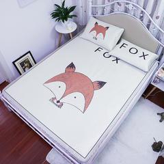 三明治大版 高清数码印花冰丝席 折叠软空调凉席3D透气底布 1.5m(5英尺)床 FOX