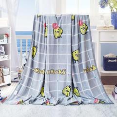 350克  双面绒毯子超柔加厚云貂绒毛毯法莱绒毛毯 床单盖毯 100x150cm选做花型详见Q群尺寸表 喵喵喵