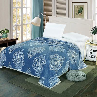 双面绒毯子超柔加厚云貂绒毛毯法莱绒毛毯 床单盖毯 48cmX74cm拉链枕套一只 亨利世家