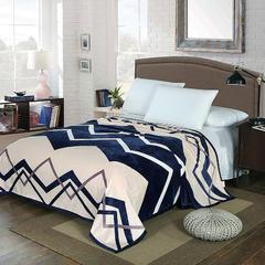 赋雅家纺 双面绒毯子超柔加厚云貂绒毛毯法莱绒毛毯 床单盖毯 200cmx230cm 流光溢彩