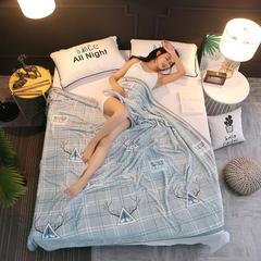 350克  双面绒毯子超柔加厚云貂绒毛毯法莱绒毛毯 床单盖毯 120cmX200cm 北欧风情