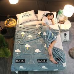 350克  双面绒毯子超柔加厚云貂绒毛毯法莱绒毛毯 床单盖毯 70cmX100cm随机花型 数量有限 雨中情