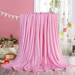 赋雅家纺  双面绒毯子超柔加厚云貂绒毛毯法莱绒毛毯 床单盖毯 70X100cm随机花型 数量有限 粉色