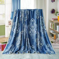 赋雅家纺  双面绒毯子超柔加厚云貂绒毛毯法莱绒毛毯 床单盖毯 70X100cm随机花型 数量有限 亨利世家