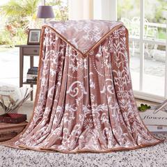 赋雅家纺  双面绒毯子超柔加厚云貂绒毛毯法莱绒毛毯 床单盖毯 70X100cm随机花型 数量有限 欧式风情咖