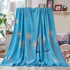 赋雅家纺  双面绒毯子超柔加厚云貂绒毛毯法莱绒毛毯 床单盖毯 70X100cm随机花型 数量有限 向阳花开