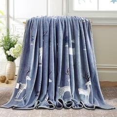 赋雅家纺  双面绒毯子超柔加厚云貂绒毛毯法莱绒毛毯 床单盖毯 70X100cm随机花型 数量有限 小鹿