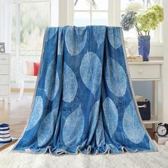 赋雅家纺  双面绒毯子超柔加厚云貂绒毛毯法莱绒毛毯 床单盖毯 70X100cm随机花型 数量有限 叶叶情深
