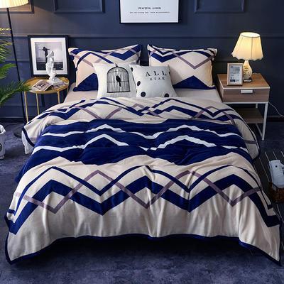 双面绒毯子超柔加厚云貂绒毛毯法莱绒毛毯 床单盖毯 48cmX74cm拉链枕套一只 流光溢彩