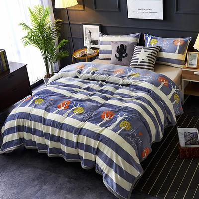 双面绒毯子超柔加厚云貂绒毛毯法莱绒毛毯 床单盖毯 48cmX74cm拉链枕套一只 迷情丛林
