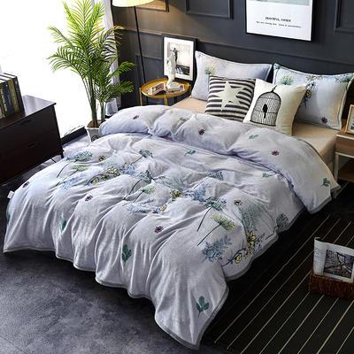 双面绒毯子超柔加厚云貂绒毛毯法莱绒毛毯 床单盖毯 48cmX74cm拉链枕套一只 妙恋