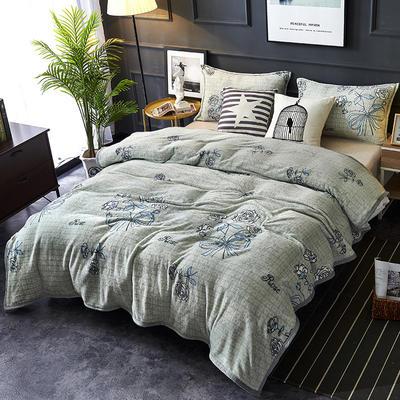双面绒毯子超柔加厚云貂绒毛毯法莱绒毛毯 床单盖毯 70X100cm随机花型 朵朵牡丹