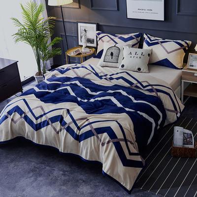 双面绒毯子超柔加厚云貂绒毛毯法莱绒毛毯 床单盖毯 70X100cm随机花型 流光溢彩