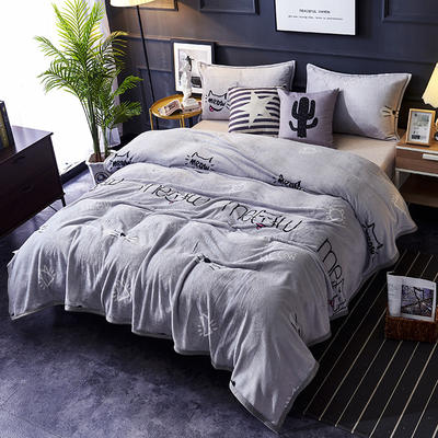 双面绒毯子超柔加厚云貂绒毛毯法莱绒毛毯 床单盖毯 70X100cm随机花型 喵喵喵