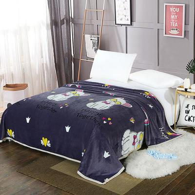 双面绒毯子超柔加厚云貂绒毛毯法莱绒毛毯 床单盖毯 70X100cm随机花型 汪星人