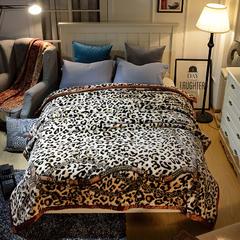 城市居品 2018新款双层加厚保暖安哥拉毛毯 9斤200*230 200cmx230cm 宫廷豹纹