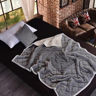 2020新款AB版超柔抱枕被毯系列 50*50展开150*195 灰色